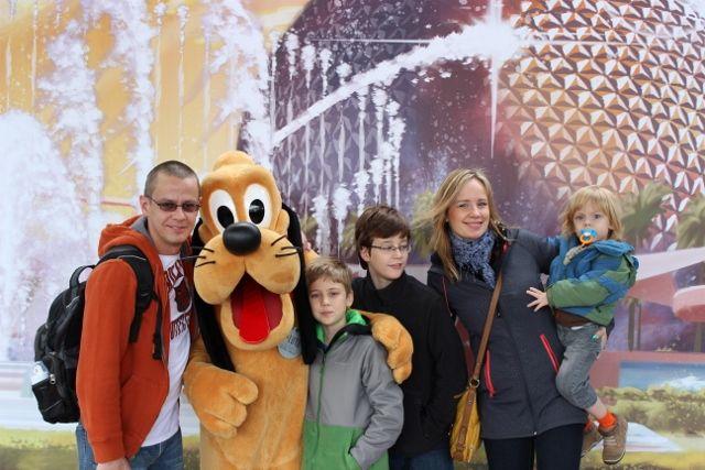 Staszek Mrugała z rodziną